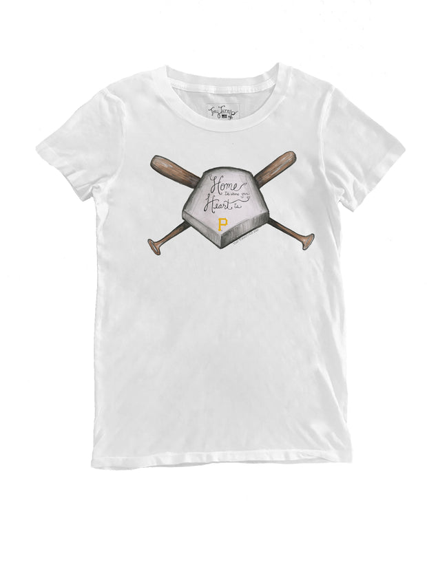 Pittsburgh Pirates Women's Home Is Where Your Heart Is Tee