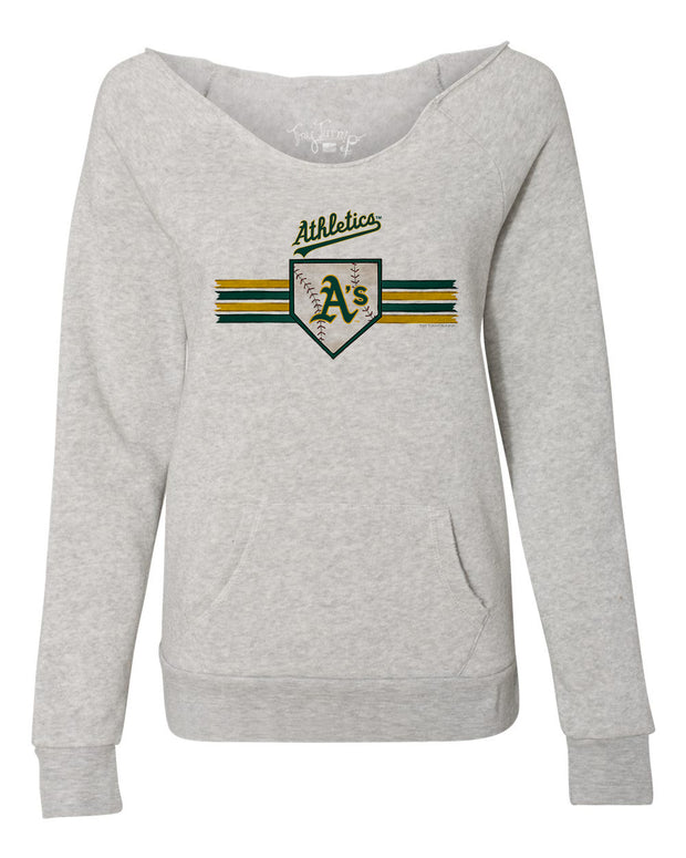 Oakland Athletics Women's Base Stripe Slouchy Sweatshirt