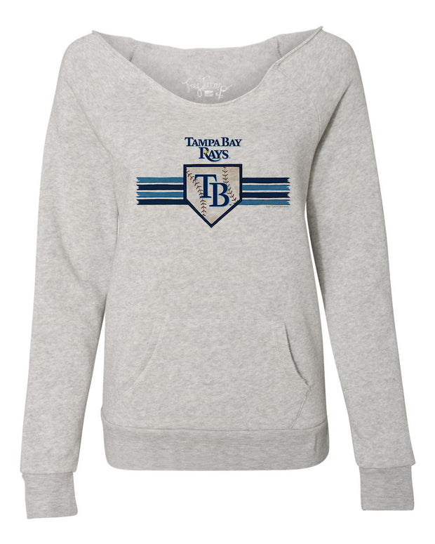 Tampa Bay Rays Women's Base Stripe Slouchy Sweatshirt