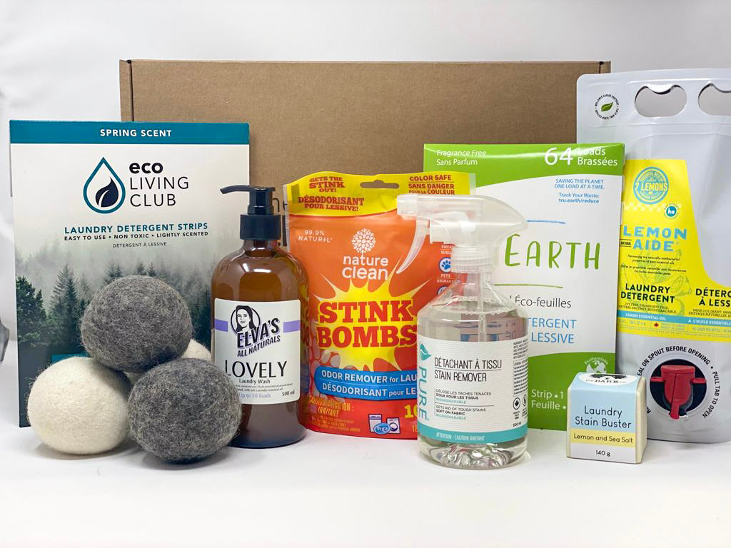 selection of eco-friendly and non-toxic cleaning products