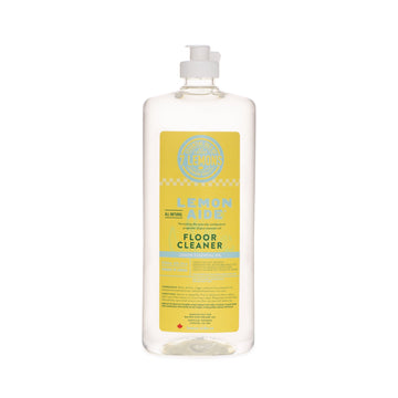 fresh yellow bottle of Lemon Aide floor cleaner. Featured in the Clean Crate Add-on shop