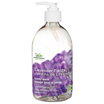 Simple clear pump of eco friendly non toxic vegan natural body wash featured at the Clean Crate Add-on shop for inclusion in Clean Crate Subscription