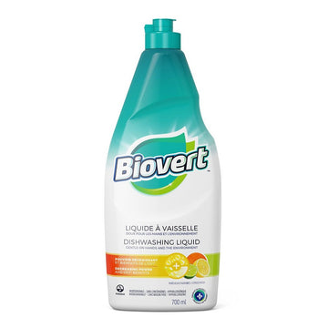 Biovert dishwashing liquid natural cleaning product