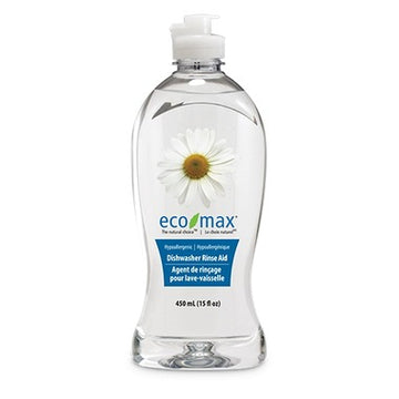 Clear Clean bottle of natural eco friendly rinse aid. Featured in the Clean Crate Add-on Shop