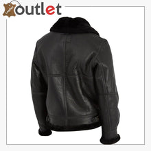 Load image into Gallery viewer, Women Pure Black B3 Shearling Jacket