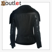 Load image into Gallery viewer, Women Sheepskin Oversized Collar Jacket