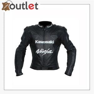 Kawasaki Motorcycle Leather Jacket BMJ