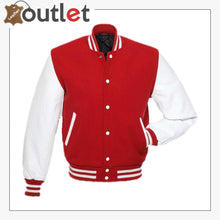Load image into Gallery viewer, Red White Varsity Jacket