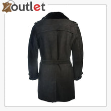 Load image into Gallery viewer, Men Black Sherpa Trench