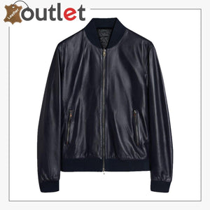 Men Oxford Blue Bomber Jacket