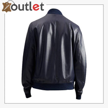 Load image into Gallery viewer, Men Oxford Blue Bomber Jacket