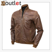 Load image into Gallery viewer, Men Tawny Brown Bomber Jacket