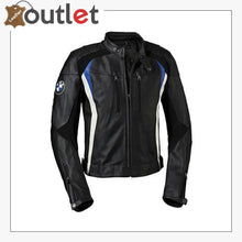 Load image into Gallery viewer, BMW Motorbike Leather Jacket Mens