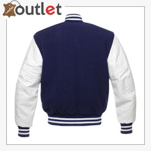 Load image into Gallery viewer, Oxford Blue Varsity Jacket