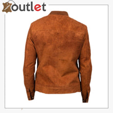 Load image into Gallery viewer, Men Brown Bomber Suede Jacket