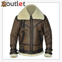 Load image into Gallery viewer, Men Brown B3 Aviator Shearling Jacket