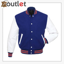 Load image into Gallery viewer, Royal Blue Varsity Jacket