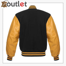 Load image into Gallery viewer, Black & Gold Varsity Jacket