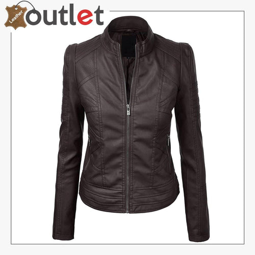 2020 New Styles Leather Fashion Jacket For Women