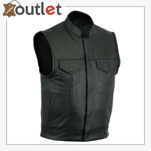 2020 New Styles Leather Motorcycle Vest For Men