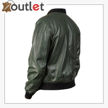 Load image into Gallery viewer, Men Glossy Green Bomber Jacket