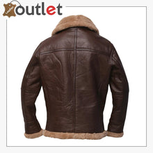 Load image into Gallery viewer, Men Brown Sheepskin Leather Jacket
