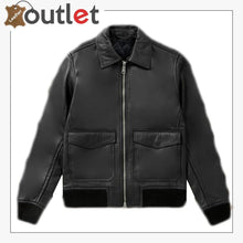 Load image into Gallery viewer, Men Biker Bomber Leather Jacket
