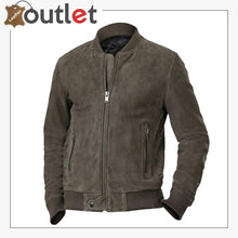 Load image into Gallery viewer, Men Ash Grey Bomber Jacket
