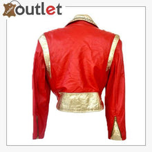 Load image into Gallery viewer, Studded Crystal Embellished Vintage Leather Jacket