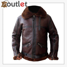 Load image into Gallery viewer, Men Aviator Bomber Leather Jacket