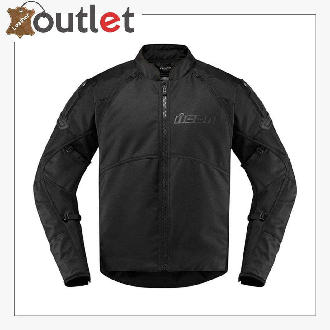 Icon Automag 2 Stealth Motorbike Leather Jacket