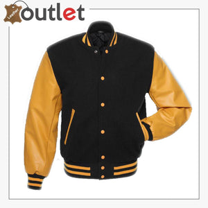 Black & Gold Varsity Jacket