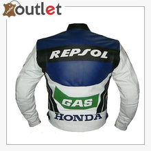 Load image into Gallery viewer, Honda Repsol Gas Motorcycle Biker Leather Jacket