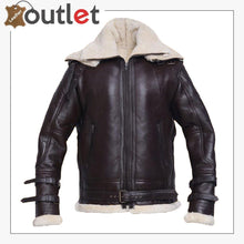 Load image into Gallery viewer, Men Jet Black Shearling Jacket