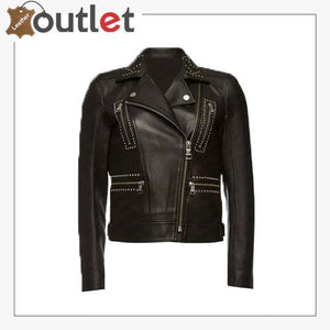 Embellished Leather Studded & Biker Jacket
