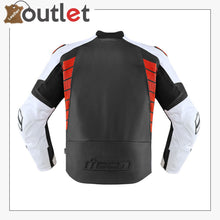 Load image into Gallery viewer, Black-Red High Speed Motorbike Leather Jacket
