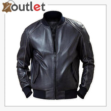 Load image into Gallery viewer,  Men Black Bomber Jacket
