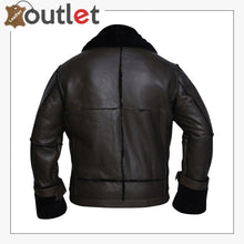 Load image into Gallery viewer, Men Black Bomber Shearling Jacket