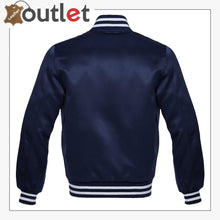 Load image into Gallery viewer, Navy Blue Satin Jacket