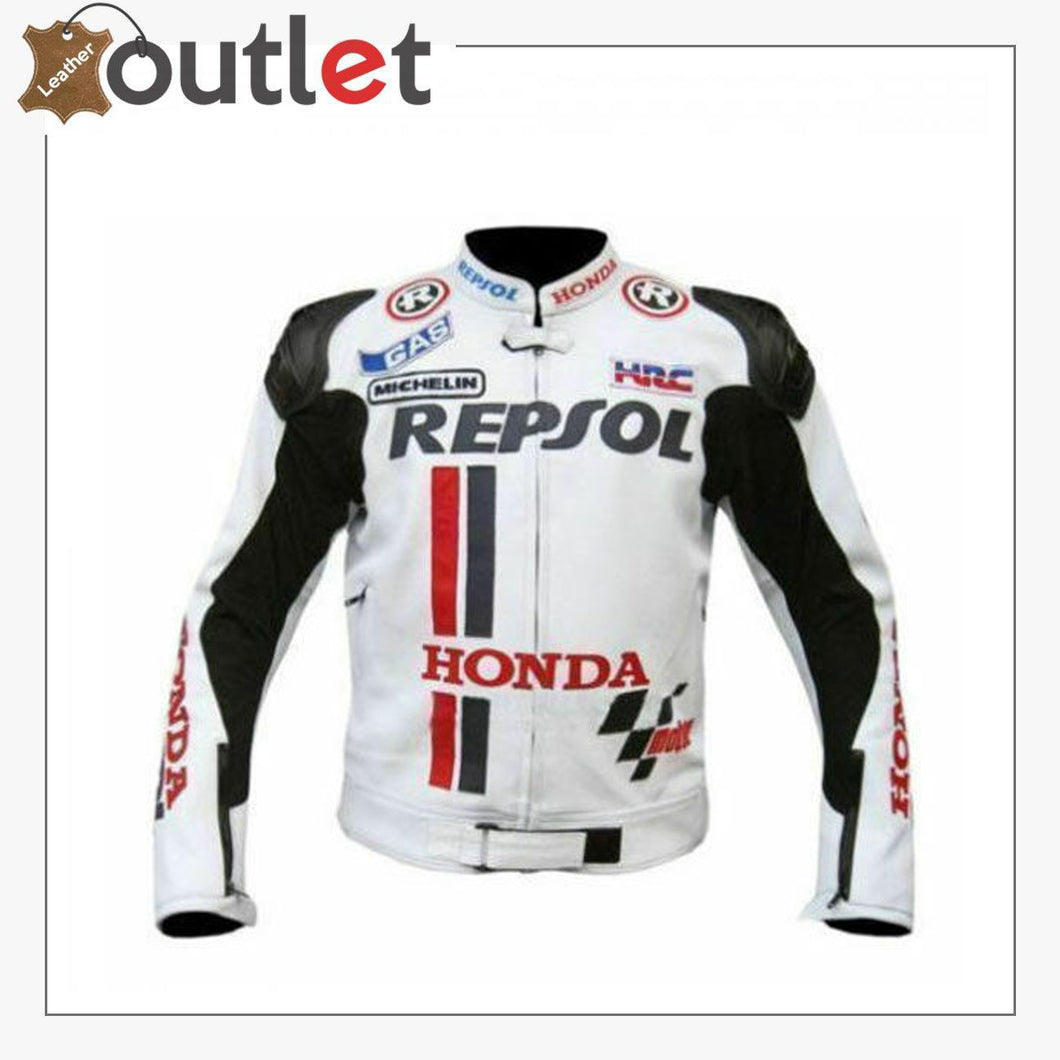 5 Safety Protections Honda Repsol Motorcycle Leather Jacket