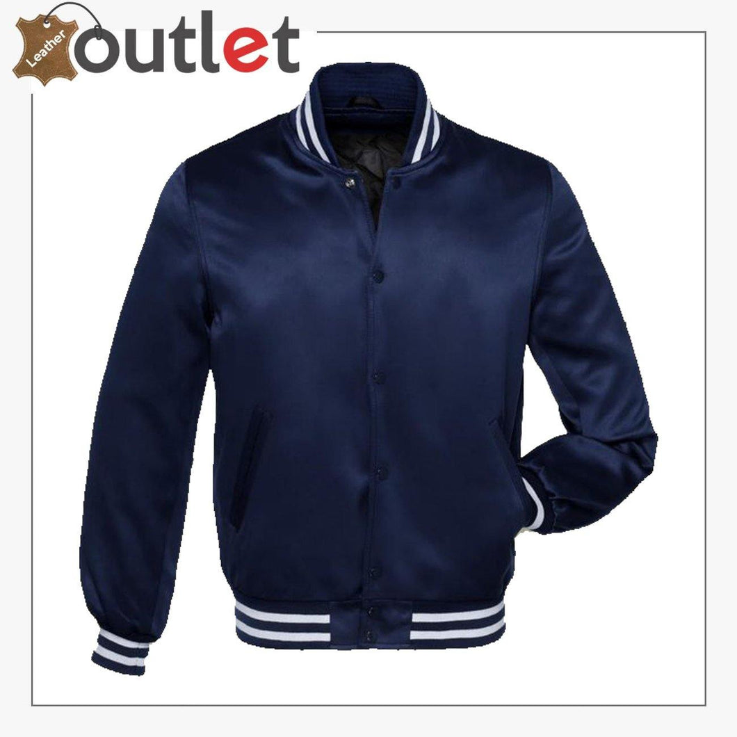 Navy Blue Satin Jacket