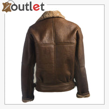 Load image into Gallery viewer, Women Brown Shearling Leather Jacket