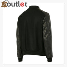 Load image into Gallery viewer, Men Black College Bomber Jacket
