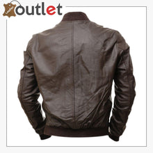 Load image into Gallery viewer, Men Hickory Brown Bomber Jacket