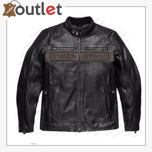 Harley Davidson Men's Asylum Leather Motorcycle Jacket