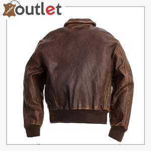 A2 Aviator Brown Bomber Leather Jacket
