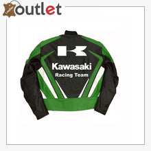 Load image into Gallery viewer, Kawasaki Racing Team Leather Motorcycle Jacket
