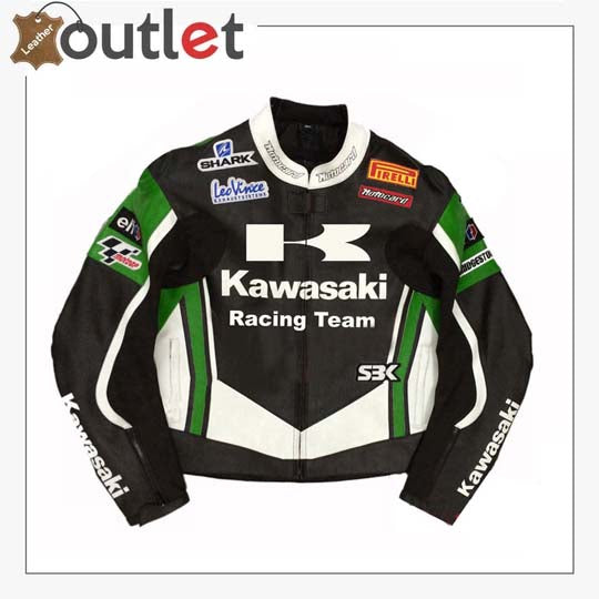 Kawasaki Racing Team Leather Motorcycle Jacket
