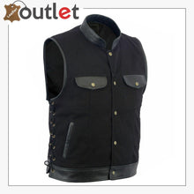 Load image into Gallery viewer, Anarchy Leather MotorBiker Vest For Men