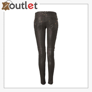 Belle Couture Fashion Leather Pants